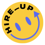 hire up - hr community - smiley badge